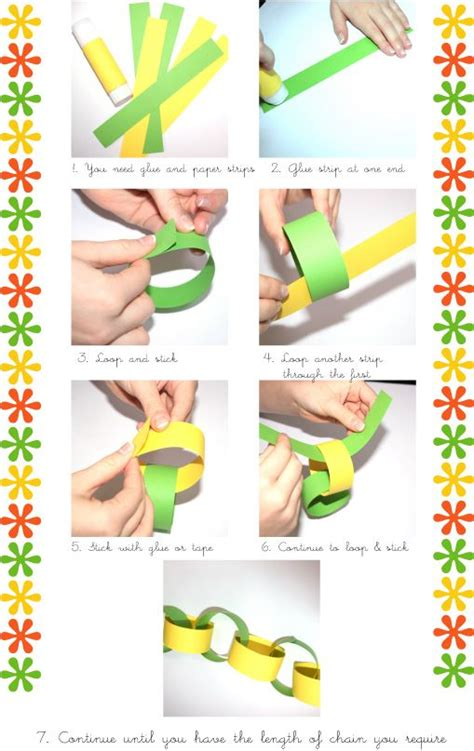 Paper Chain Crafts for Kids Instructions for Making