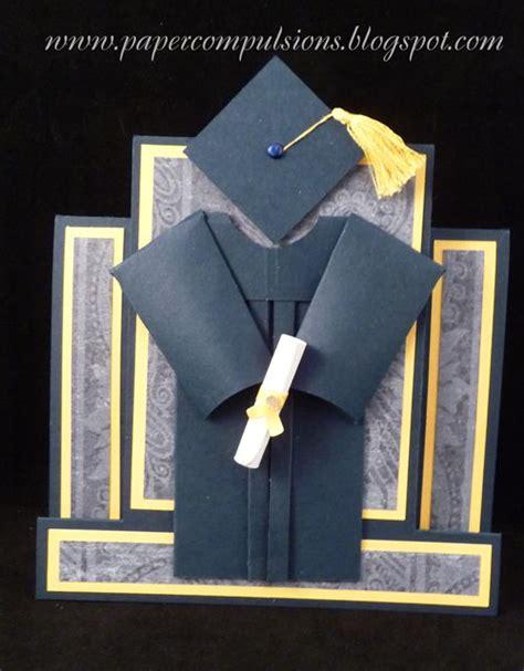 Paper Compulsions Graduation Cap and Gown Card