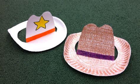 Paper Crafts for Children Simple Cowboy Hat Crafts