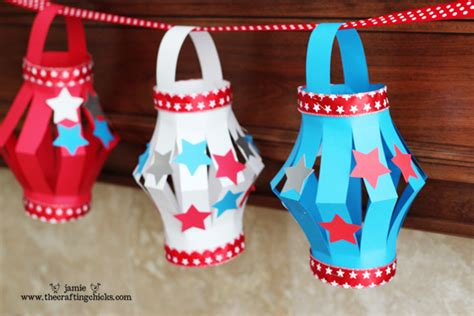 Paper Lantern Kid s Craft 4th of July Style The Crafting