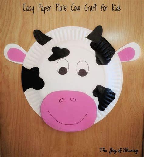 Paper Plate Cow Craft DLTK s Crafts for Kids