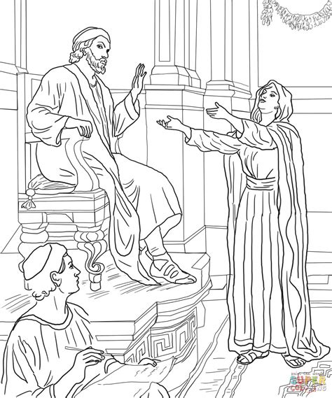 Parable of the Persistent Widow coloring page Free