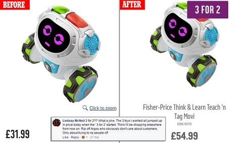 Parents accuse Argos of hiking the price of bargain toys