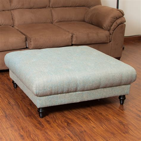 Parisian Fabric Ottoman Footstool Coffee Table Great