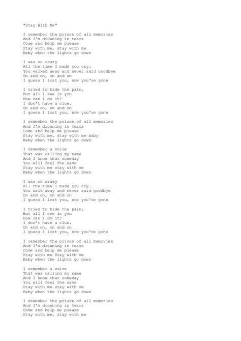 Paroles Sam Smith Stay With Me lyrics musique en parole