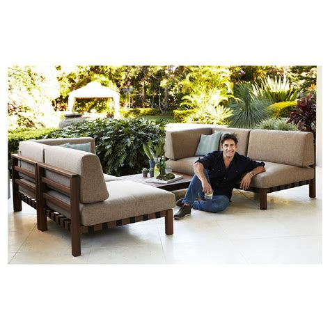 Patio by Jamie Durie Fremantle Modular Ottoman Coffee