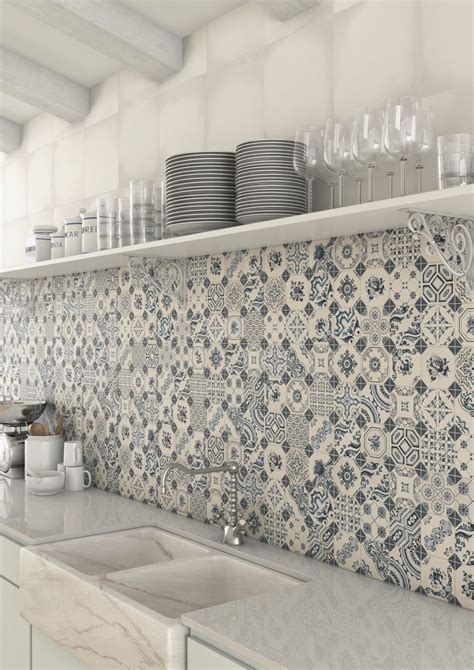 Patterned Decorative wall and floor tiles in