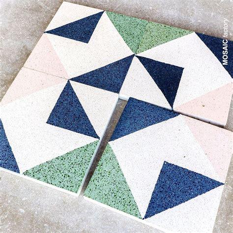 Patterned terrazzo tiles Mosaic Granito