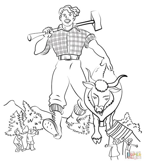 Paul Bunyan coloring page Free Printable Coloring Pages