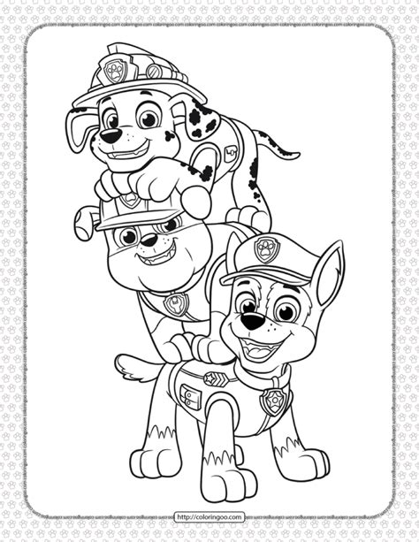 Paw Patrol Coloring Pages HealthyChild