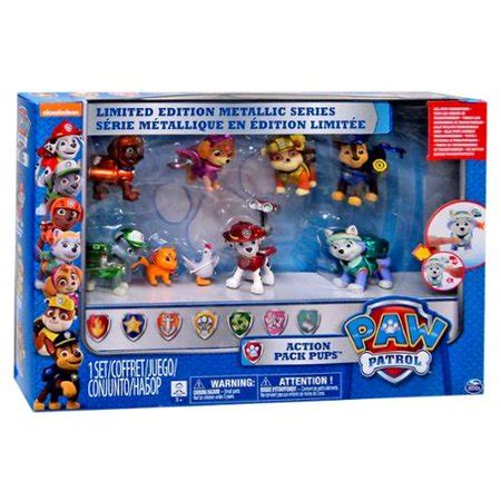 Paw Patrol Limited Edition Action Pack Pups Metallic