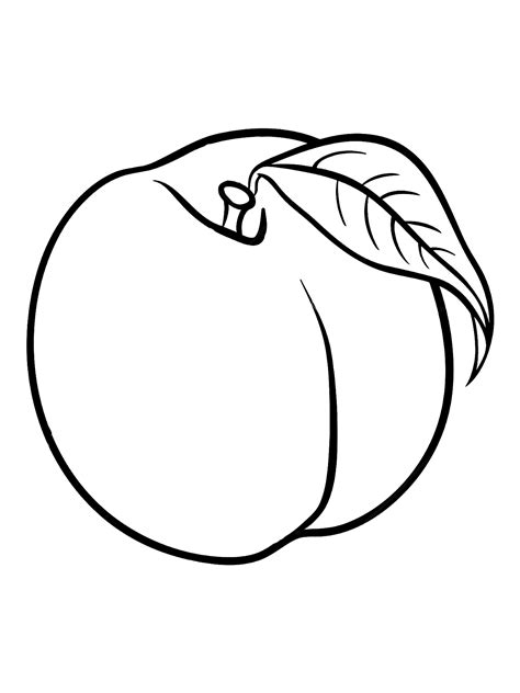 Peaches coloring sheets to print and color 024