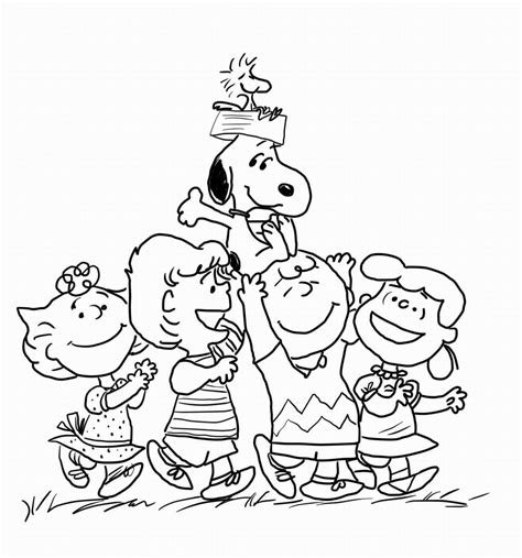 Peanuts Coloring Book 1 5 Pages colorcutandcreate
