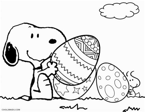 Peanuts Easter coloring page Free Printable Coloring Pages