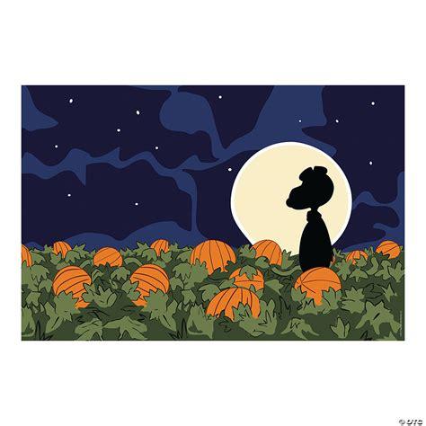 Peanuts Great Pumpkin Backdrop Oriental Trading