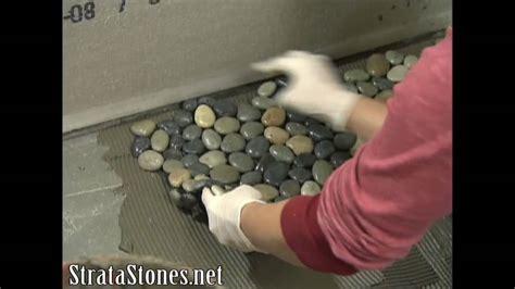 Pebble Tile Shower Installation on DIY Network YouTube