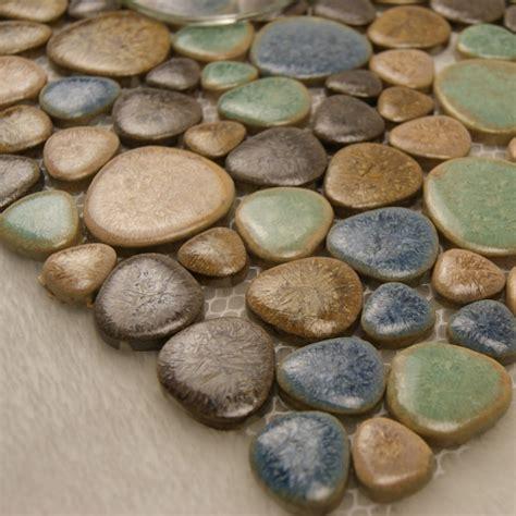 Pebble Tiles Porcelain Pebble Tile