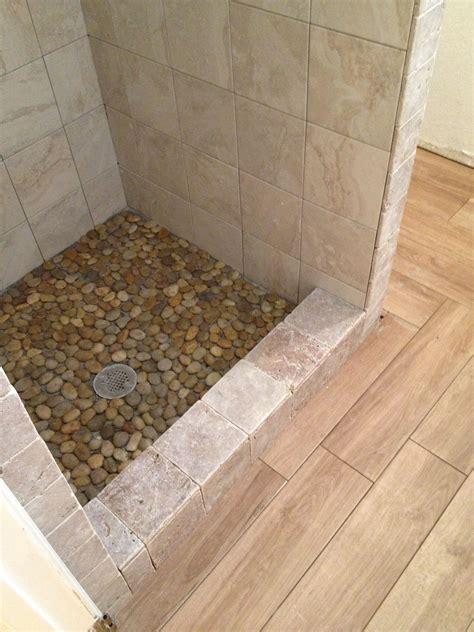 Pebble stone shower floor Houzz