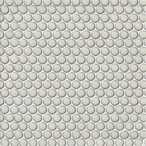 Penny Round Milk Porcelain Mosaic Tile The Tile Shop