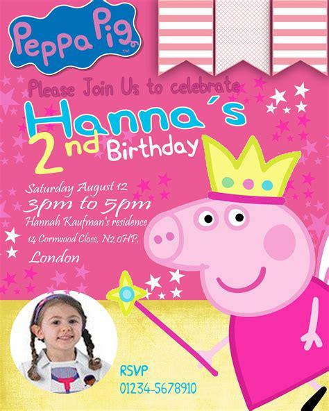 Peppa Pig Party Invitations Australia