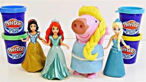 Peppa Pig Play Doh Plus Disney Princess Makeover with