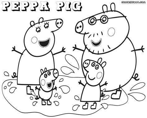 Peppa Pig s Family coloring page Free Printable Coloring