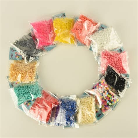 Perler Beads Single Color Bags and Pegboards