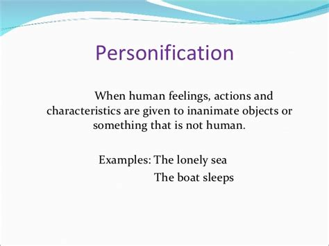 Personification Examples Literary Device Definitions