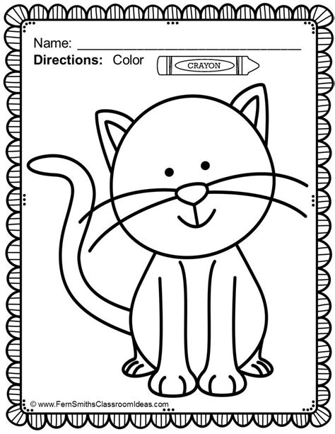 Pet Animal Colouring Pages Activity Village