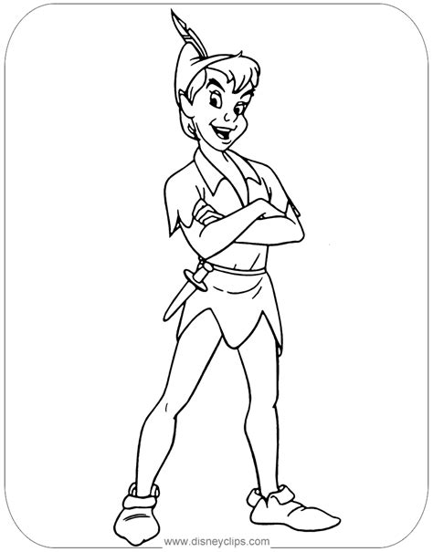 Peter Pan coloring pages Free printable coloring sheets