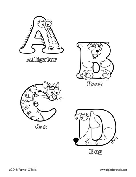Pets Coloring Pages and Pets Alphabet Printable Activities