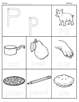 Phonemic Awareness Phonics Letter P p