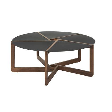 Pi Coffee Table Round Wood Metal Coffee Table Blu Dot