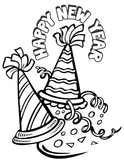 Pictures To Color For New Years tellinya