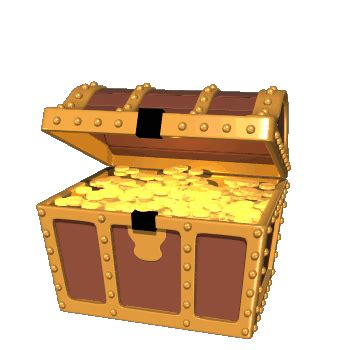 Piggy bank pot of gold treasure chest and other money