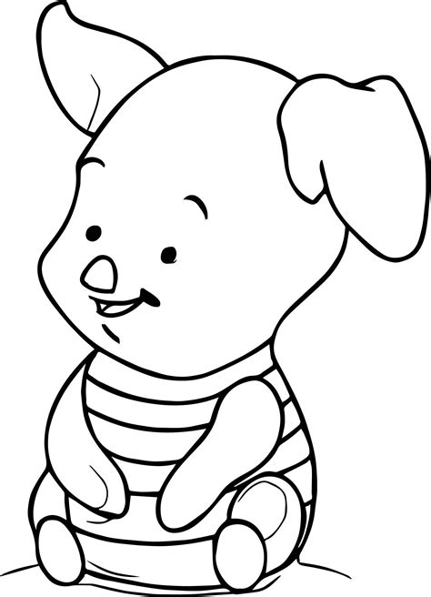 Piglet Coloring Pages ColoringBookFun