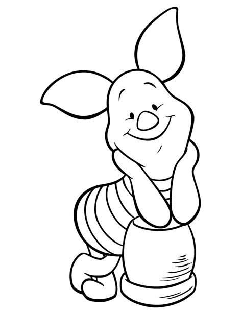Piglet coloring pages on Coloring Book info