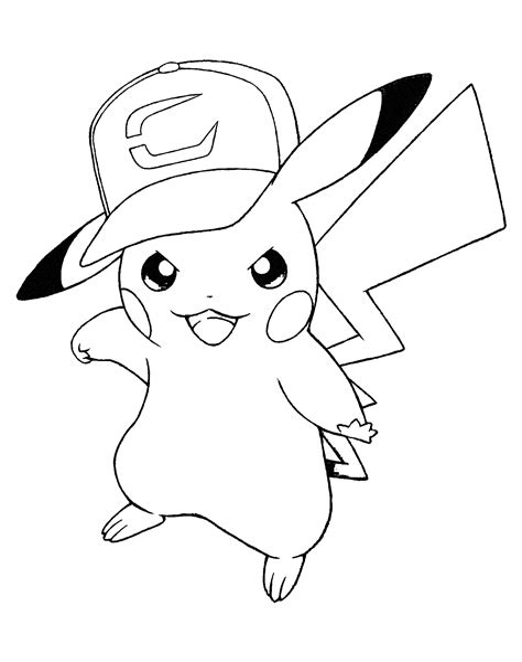 Pikachu Coloring Page Pokemon BigActivities