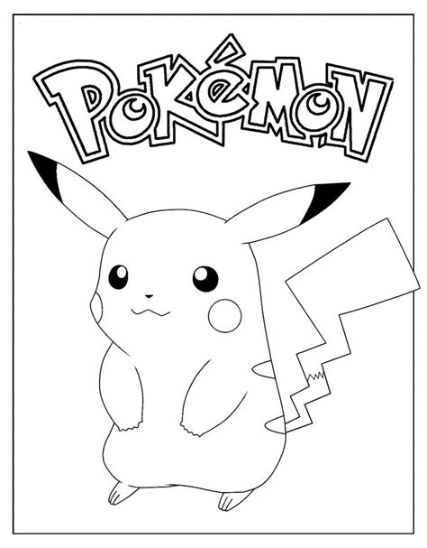 Pikachu Drawing for Kids Coloring pages Free Online