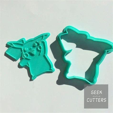 Pikachu Face Cookie Cutter Set Fondant Cutters