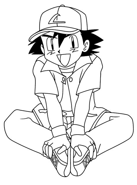 Pikachu and Ash from Pokemon Coloring Pages 8 Pokemon