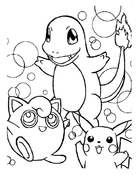 Pikachu and his friends coloring page Free Printable