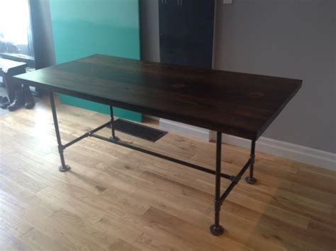 Pipe Wood Table V2 Storefront Life