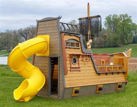 Pirate Ship Swing Set Pirate Ship Playset Wooden Pirate