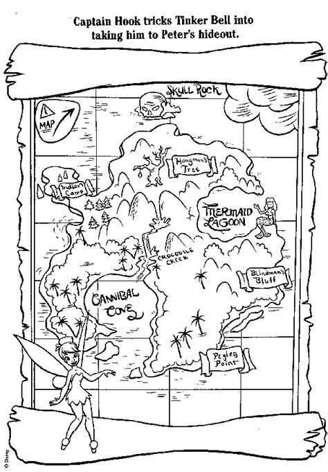 Pirate Treasure Map Coloring Page GetColoringPages