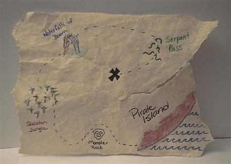 Pirate s Treasure Map DLTK s Crafts for Kids