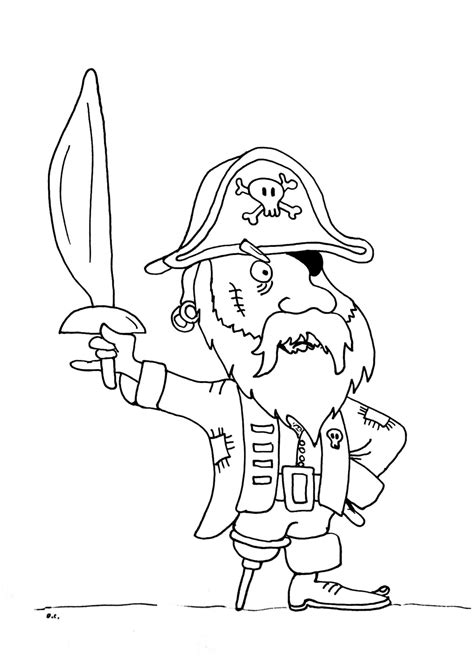 Pirates Coloring Pages BigActivities