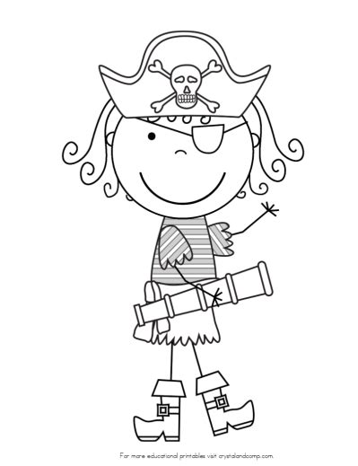 Pirates coloring pages DLTK s Crafts for Kids