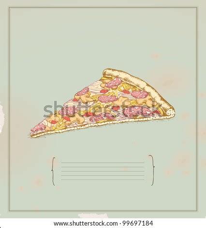 Pizza Slice Drawing Stock Vector 99697184 Shutterstock