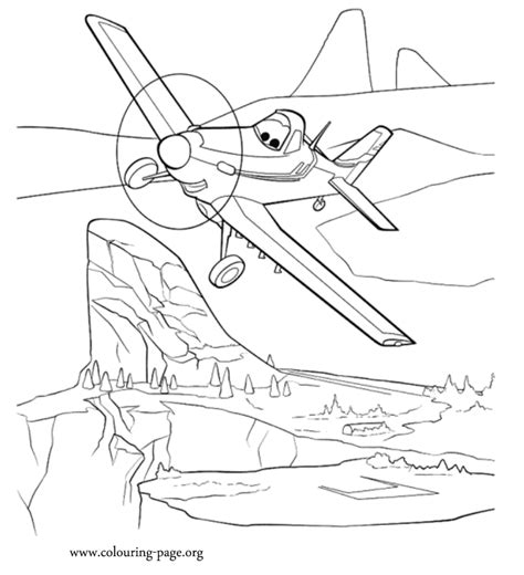 Planes Dusty a single propeller plane coloring page